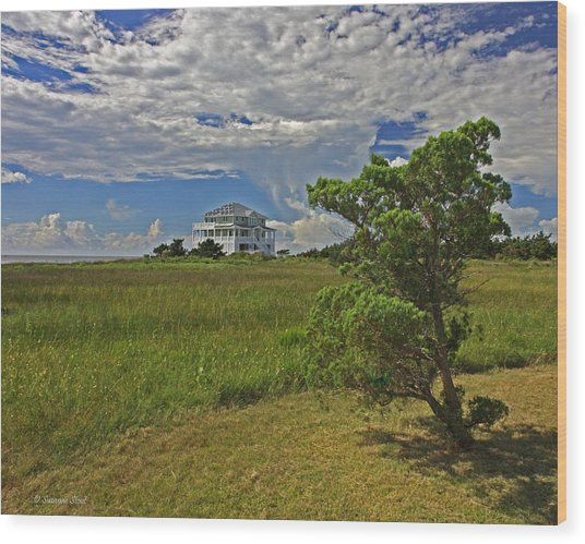 Clouds Over Hatteras Wood Print