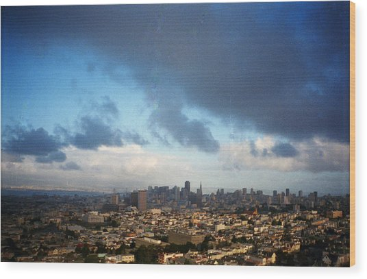 Clouds Over San Francisco Wood Print by Eric Miller