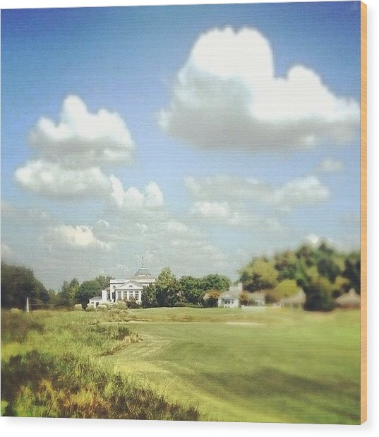 Clouds Over The Club House #iphone5 Wood Print