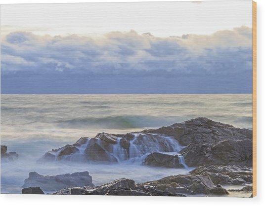 Cloudy Dawn Wood Print