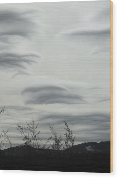 Cloudy Day Wood Print by Yvette Pichette