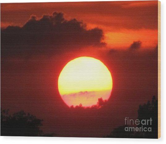 Cloudy Sunset 21 May 2013 Wood Print