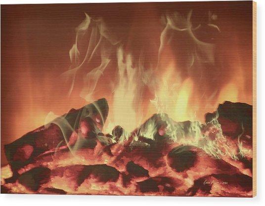 C'mon Baby Light My Fire Wood Print
