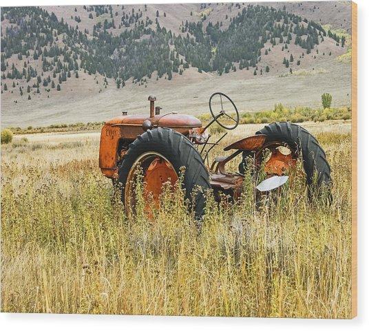 Co Op Tractor Wood Print