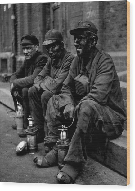 Coal Miners Dirty Job Vintage  Wood Print by Retro Images Archive