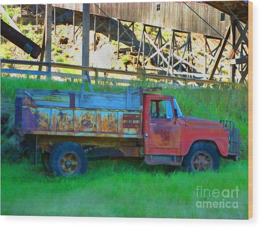 Coal Truck Wood Print by John Kreiter