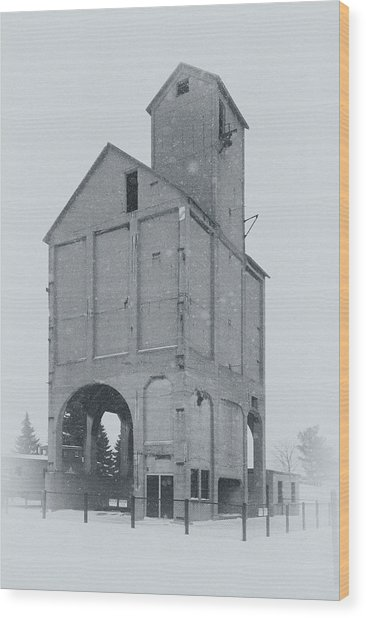 Coaling Tower Wood Print