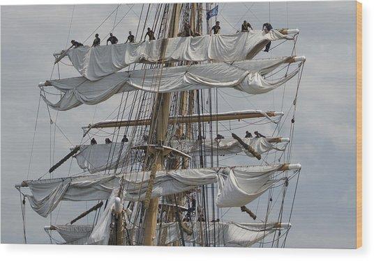 Coast Guard Cutter Eagle Opsail 2012 Wood Print