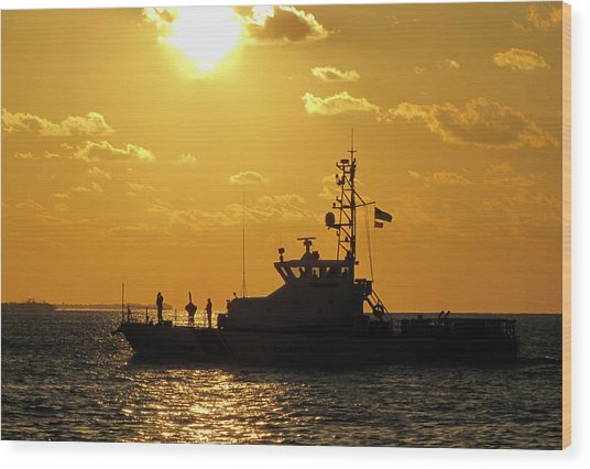 Coast Guard In Paradise - Key West Wood Print