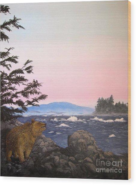 Coastal Bear Wood Print