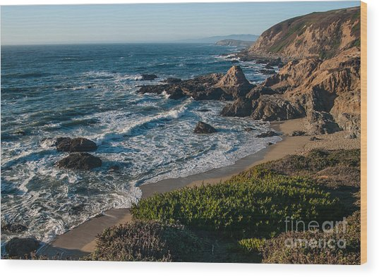 Coastal California  2.2744 Wood Print by Stephen Parker