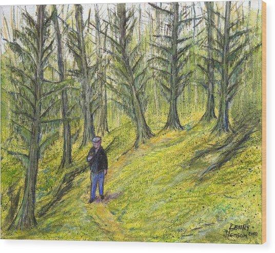 Coastal Moss Wood Print
