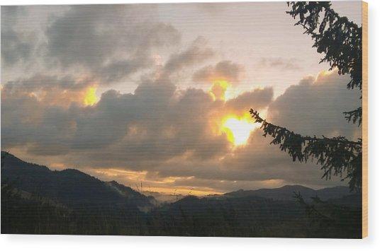 Coastal Mountain Sunrise II Wood Print