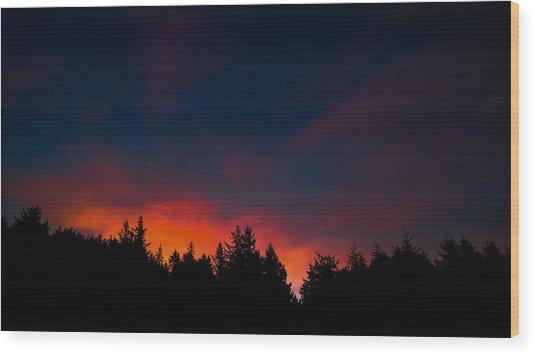 Coastal Mountain Sunrise Vii Wood Print
