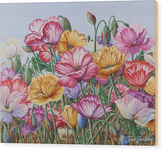Coastal Poppies Wood Print