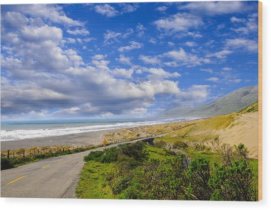Coastal Road Wood Print