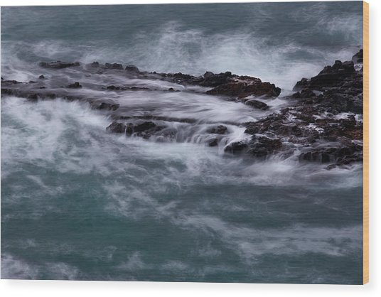 Coastal Rocks Off Rancho Palo Verdes Photography By Denise Dube Wood Print