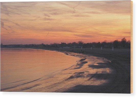 Coastal Sunset  II Wood Print by Margie Avellino