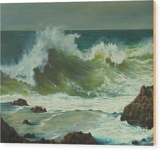 Coastal Water Dance Wood Print