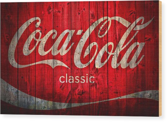 Coca Cola Barn Wood Print