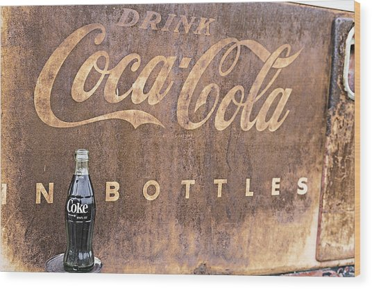 Wood Print featuring the photograph Coca-cola Bottle Return For Refund 13 by James Sage