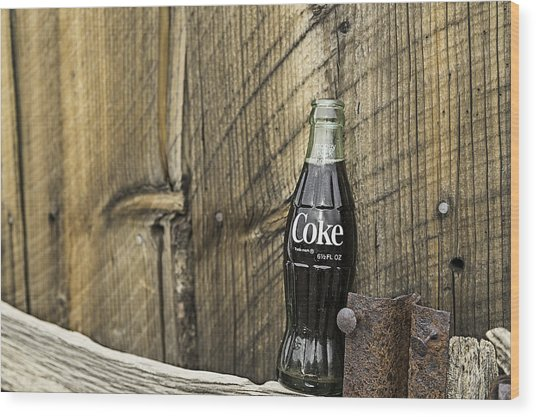 Wood Print featuring the photograph Coca-cola Bottle Return For Refund 9 by James Sage