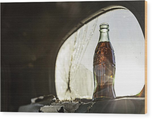 Wood Print featuring the photograph Coca-cola In The Light Of Day 2 by James Sage