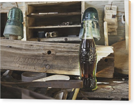Wood Print featuring the photograph Coca-cola In The Light Of Day 4 by James Sage