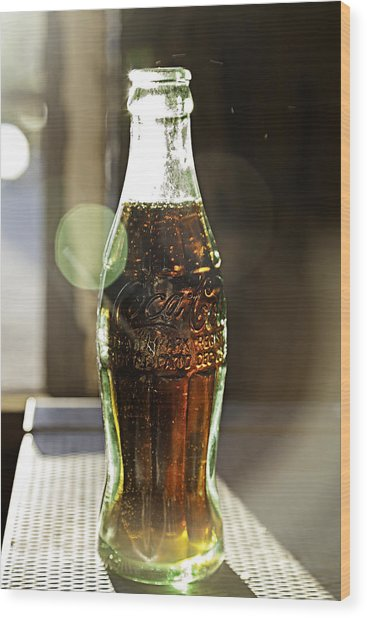 Coca-cola In The Light Of Day Wood Print