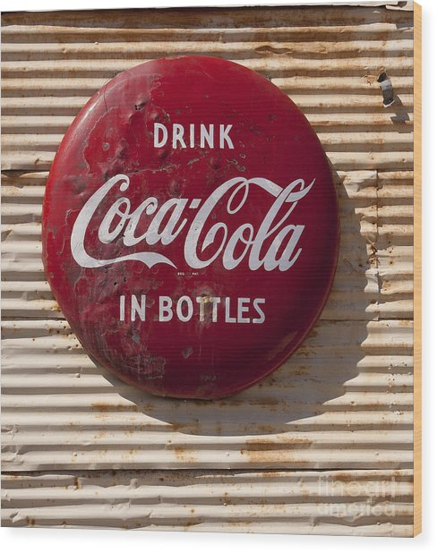 Coca Cola Sign   #0636 Wood Print