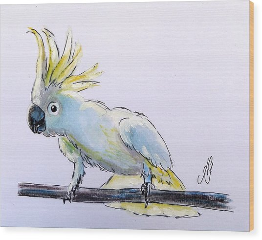 Cockatoo View Wood Print