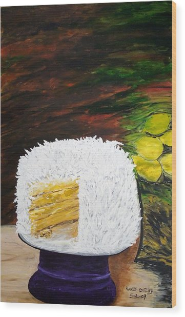 Coconut Cake Wood Print