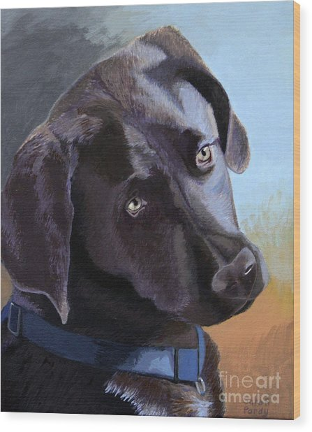 Coco's Portrait Wood Print