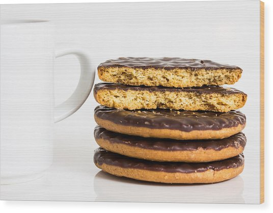 Coffee And Cookies. Wood Print by Gary Gillette