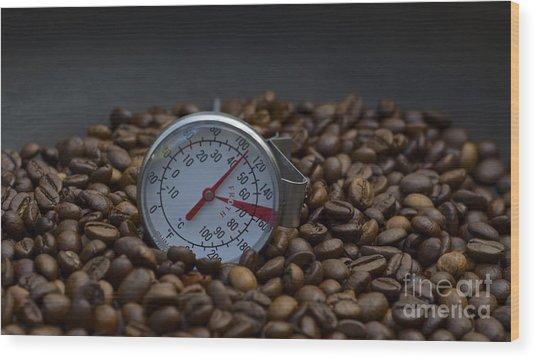 Coffee And Meter  Wood Print by Bobby Mandal