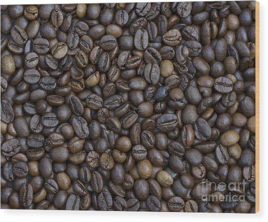Coffee  Wood Print by Bobby Mandal