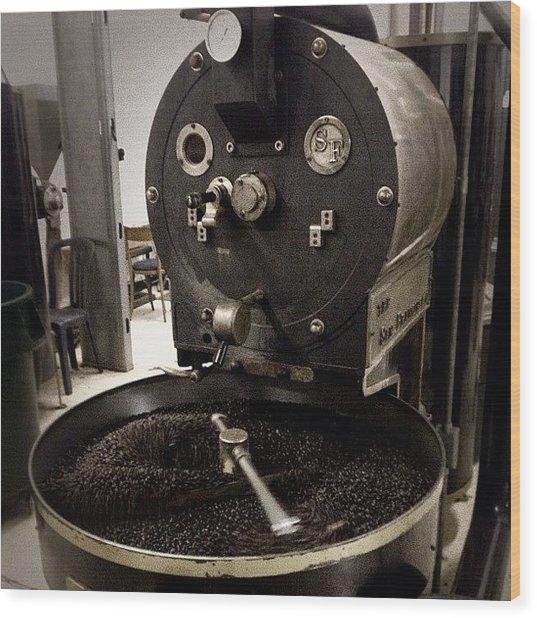 #coffee #coffeebeans #beans #roaster Wood Print