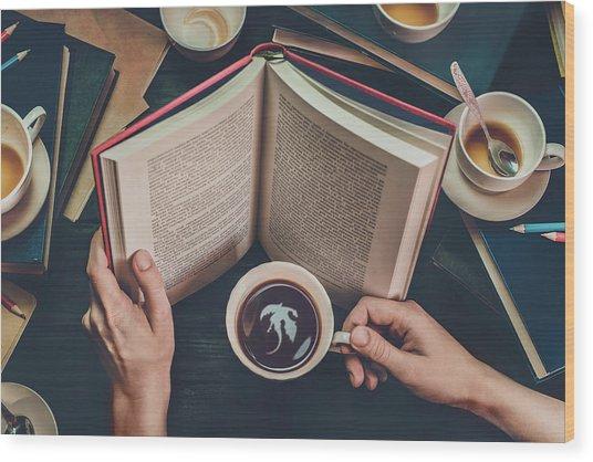 Coffee For Dreamers Wood Print by Dina Belenko