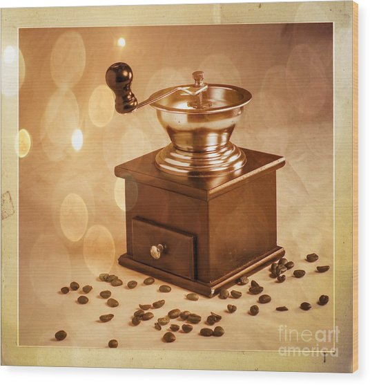 Coffee Grinder 2 Wood Print by Donald Davis
