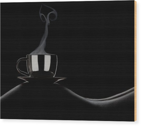 Coffee In Bed Wood Print by Dmitriy Batenko