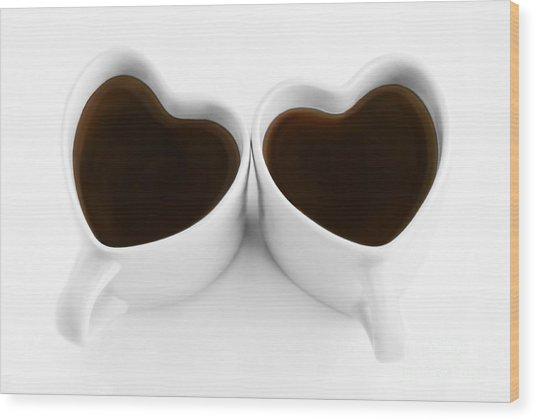 Coffee Lovers Wood Print by Dan Holm