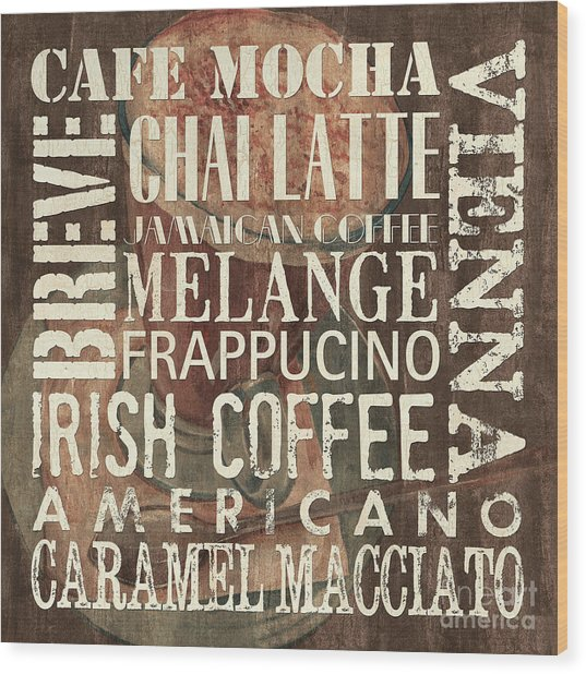 Coffee Of The Day 1 Wood Print