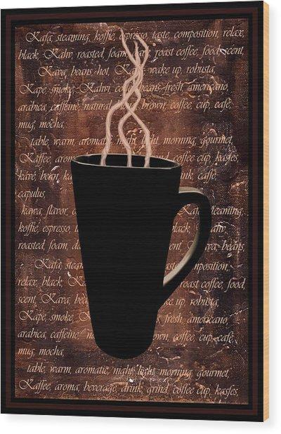 Coffee Time Wood Print