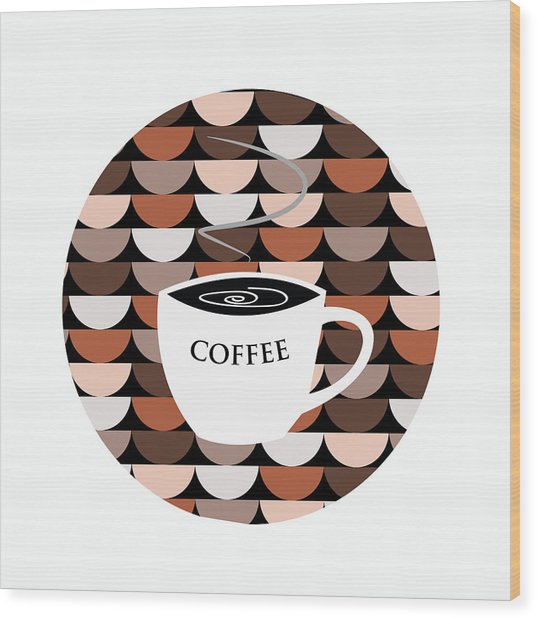 Coffee Time Wood Print by Kenneth Feliciano