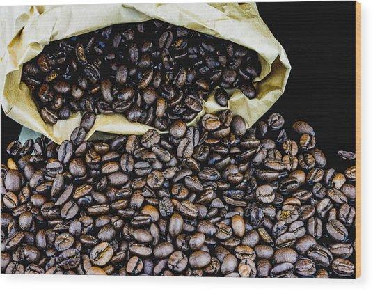 Coffee Unmilled  Wood Print
