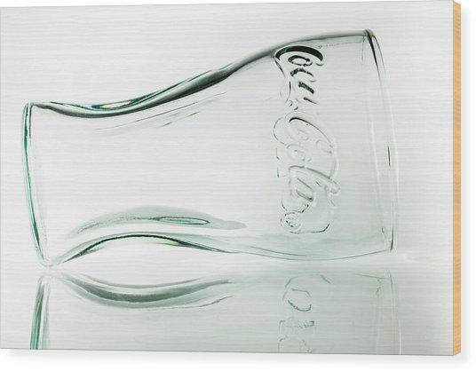 Coke Glass. Wood Print