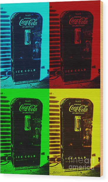 Coke Poster Wood Print