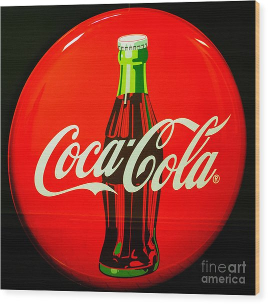 Coke Top Wood Print