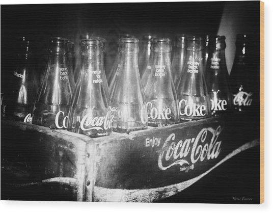 Cola Crate Wood Print