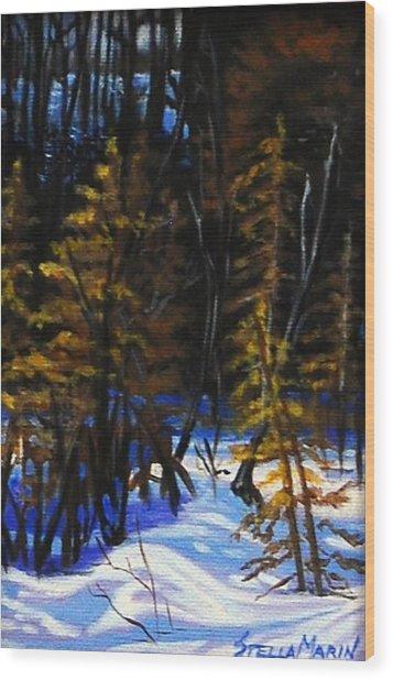 Cold Crisp Morning Wood Print